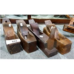 4 ANTIQUE WOOD BLOCK PLANES