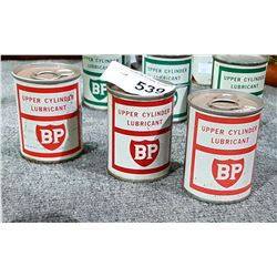 3 VINTAGE BP FUELS RED LABEL ADDITIVE TINS