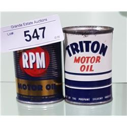 VINTAGE TRITON & RPM COIN BANKS 4OZ