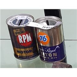 RPM & 76 COIN BANKS 4OZ