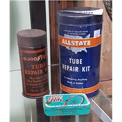 3 VINTAGE TIRE REPAIR KITS