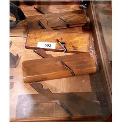 4 ANTIQUE WOOD MOULDING PLANES