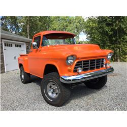 4:00PM SATURDAY FEATURE 1955 CHEVROLET 3100 4X4 CUSTOM