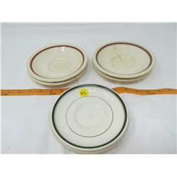 LOT OF 6 SAUCERS (HOTEL WARE) *MADE IN ENGLAND* (SOME CRACKED)