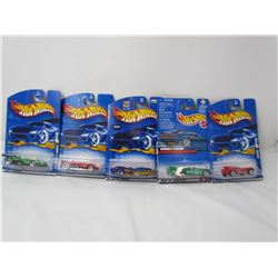 LOT OF 5 ASSORTED HOTWHEELS (CAT-A-PULT, DOUBLE VISION, PANOZ, ETC...) *N.O.S.*