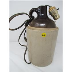 POTTERY JUG (CONVERTED TO LAMP) *BASE DRILLED FOR CORD*
