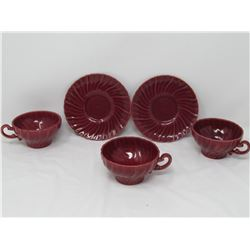 LOT OF 5 ASSORTED SAUCERS, CUPS (GOOD SHAPE) *USA*