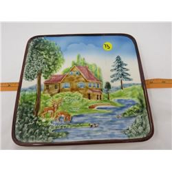 "DECORATOR PLATE (10"" SQUARE ) *MADE IN WEST GERMANY*"