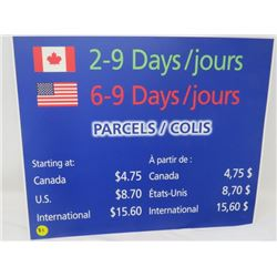 "CANADA POST POSTER (PARCELS 2 SIDED) *16"" X 13""*"