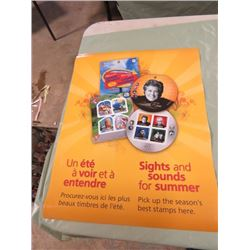 "CANADA POST POSTER (SIGHTS & SOUNDS OF SUMMER) *17"" X 22""* (2 SIDED)"