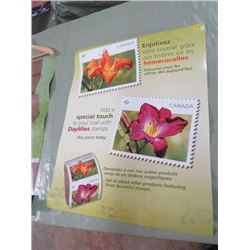 "CANADA POST POSTER (DAY LILIES) *17"" X 22""* (2 SIDED)"