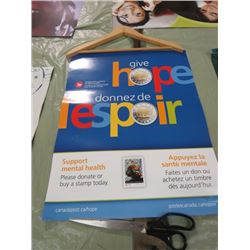 "CANADA POST POSTER (GIVE HOPE) *17"" X 22""* (2 SIDED)"