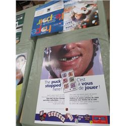 "CANADA POST POSTER (THE PUCK STOPS HERE) *22"" X 28""* ( 2 SIDED)"