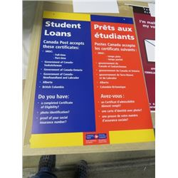 "CANADA POST POSTER (STUDENT LOANS) *18"" X 24""* ( 2 SIDED) *W/HANGER WIRE*"