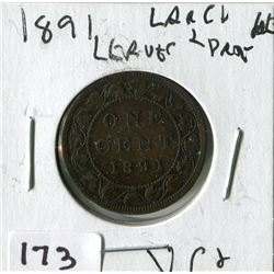 1891 CNDN LARGE PENNY