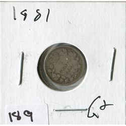 1881 CNDN SMALL NICKEL (SILVER)