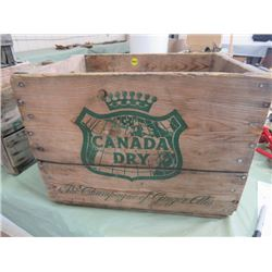 WOODEN POP CRATE (CANADA DRY)