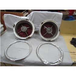 2 SETS OF TAIL LIGHTS (1963 GALAXY 500) *W/RINGS - DENTS*