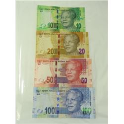PAPER CURRENCY (SOUTH AFRICA) *10 TO 100 RAND, CAT VAL $2*