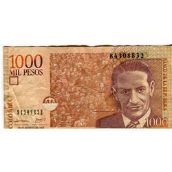 PAPER CURRENCY (COLUMBIA) *1,000 PESOS*