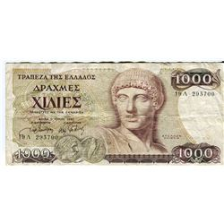 PAPER CURRENCY (GREECE) *1,000 DRACMA)