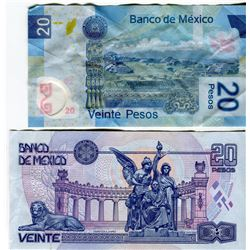 PAPER CURRENCY (MEXICO) *1 X2, 20 & 50 X 2 OLD PESOS*