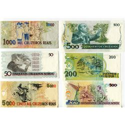 PAPER CURRENCY (BRAZIL) *LOT OF 9 DIFFERENT*