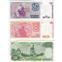 PAPER CURRENCY (ARGENTINA) *50, 100, 500 PESOS*