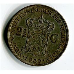 1929 COIN (NETHERLANDS) *2½ GULDEN* (HAS APPROX 1 OZ OF SILVER)