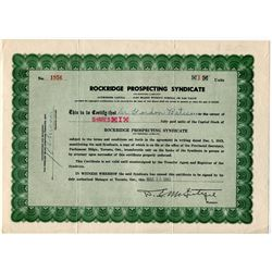 STOCK SHARES (ROCKRIDGE PROSPECTING SYNDICATE *1949* & 53 OIL AND GAS SYNDICATE. *1971* X2)