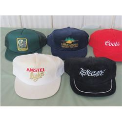 LOT OF 5 BASEBALL CAPS (FOUR CLOSED BREWERS, ONE COORS) *N.O.S.*