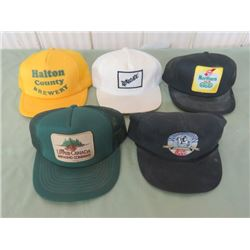 LOT OF 4 BASEBALL CAPS (WELLINGTON IRON DUKE, UPPER CANADS, RENEGADE & NORTHERN ALE, ALL ARE CLOSED)