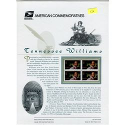 STAMP COLLECTION (TENNESSEE WILLIAMS) *BLOCK OF 4 STAMPS & BOOKLET*