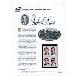 STAMP COLLECTION (RICHARD NIXON) *BLOCK OF 4 STAMPS & BOOKLET*