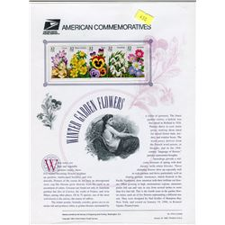 STAMP COLLECTION (FLOWERS) *BLOCK OF 4 STAMPS & BOOKLET*
