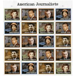 SHEET OF 20 STAMPS (U.S. JOURNALISTS)