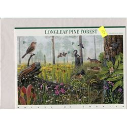 FULL PANE OF STAMPS (U.S. LONGLEAF PINE FOREST)