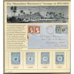 FULL PANE OF STAMPS (U.S. MISSIONARIES FROM 1851-53)
