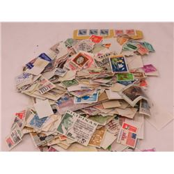 2 BAGS ASSORTED STAMPS (VARIOUS COUNTRIES)