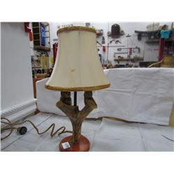 LAMP AND SHADE ( MADE OF DEER HORN) * HAND CRAFTED*