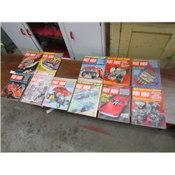 LOT OF 11 HOT ROD MAGAZINES (1967-JAN TO DEC) *MARCH IS MISSING*