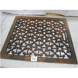 "CAST IRON GRATE (16""X13"") *DAMAGE ON CORNER*"