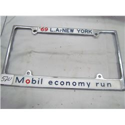 LICENCE PLATE HOLDER ( MOBILE OIL) *1969*