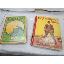 LOT OF 2 BOOKS (CHATTER BOX-1926, SCHOOL BOYS ANNUAL)