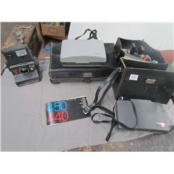 LOT OF 3 POLAROID CAMERAS AND ACCESSORIES (2 IN CASES) *MODEL 220-440 AND BRENTWOOD P51*