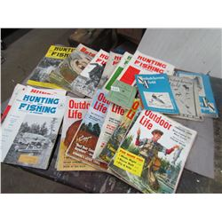 LOT OF SPORTSMAN MAGAZINES (HUNTING, FISHING, TRAPPING, ETC…) *1940S-50S-60S*