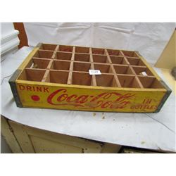 WOODEN COCA COLA CRATE (24 PACK)