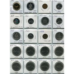 20 CNDN COINS 1 CENT TO 1 DOLLAR, 1872 TO 2017
