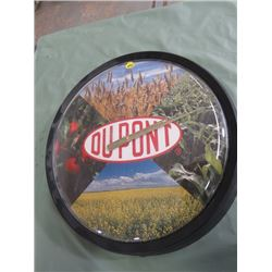 DUPONT CLOCK (IN ORIGINAL BOX) *15 INCHES ACROSS*