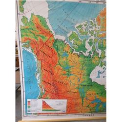 LARGE WALL MAP (CANADA LAND ELEVATIONS) *W/LEGEND*